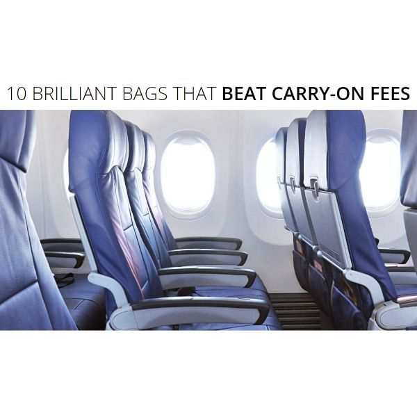 No carry-on? No problem! Avoid carry-on fees with these brilliant tips!