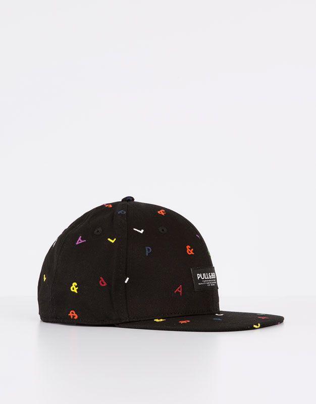 Pull Bear - hombre - accesorios - gorras y gorros - gorra bordado - negro -  09830501-I2016 db0262f25ff