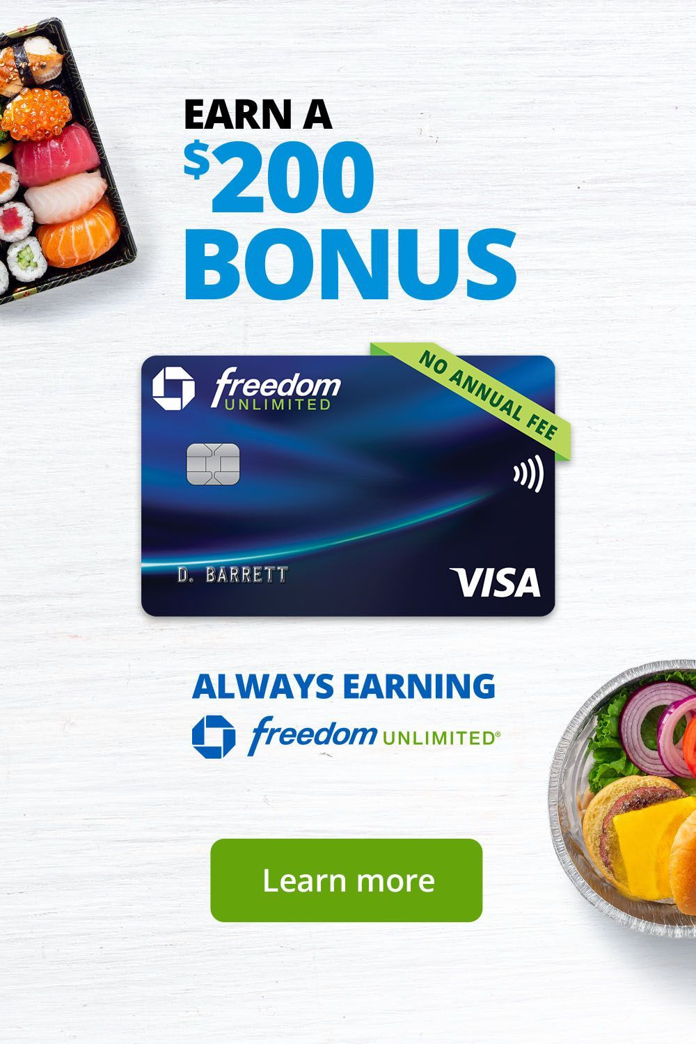 With Chase Freedom Unlimited You Re Always Earning Earn A 200 Bonus And Get 0 Intro Apr For The First 15 Mont Chase Freedom How To Eat Better I Love School