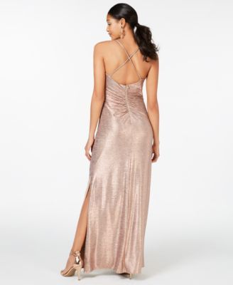fd7dd754 Night Way Nightway Cowl-Neck Gold-Foil Gown in 2019 | Products ...