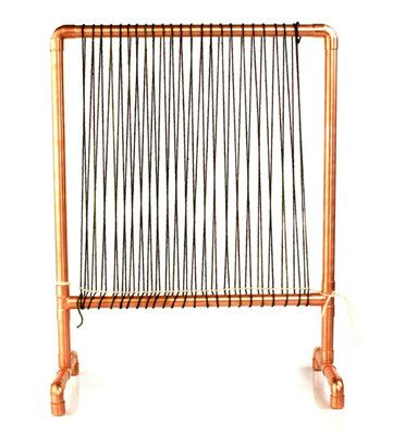 How To Warp A Frame Loom Weaving Pinterest Craft