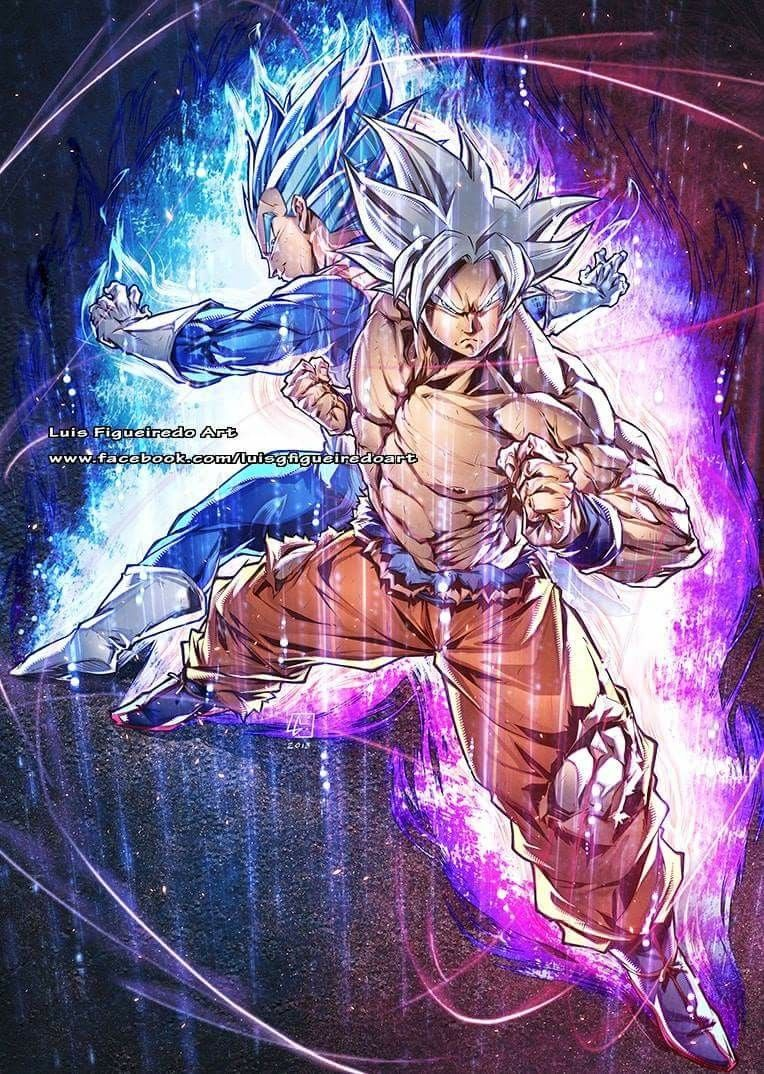 Goku Ultra Instinct And Vegeta Ssj Blue Dragon Ball Art Dragon Ball Artwork Anime Dragon Ball Super