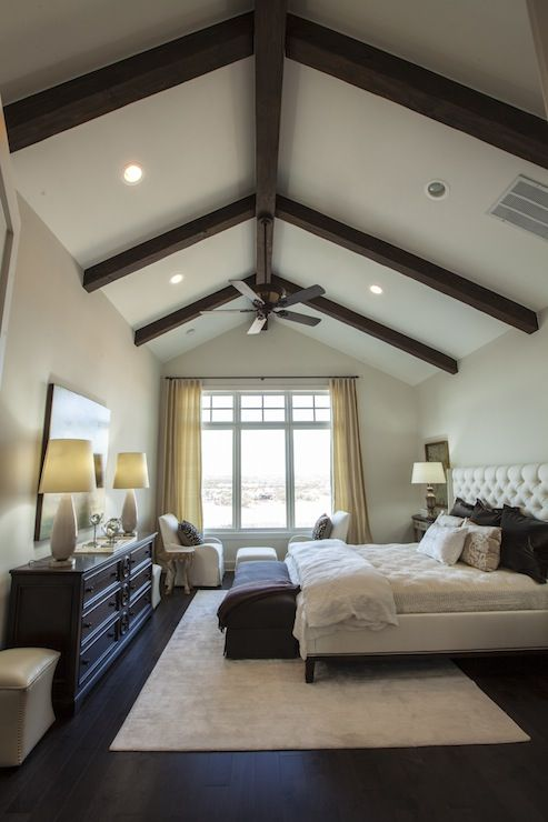 Master Bedroom Vaulted Ceiling traditional master bedroom with bay window, vaulted ceiling