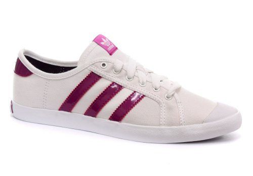 the latest 670a6 8c4cd Adidas Originals Adria Low Sleek White Womens Sneakers, Size 9.5