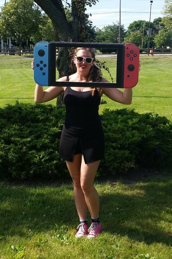 Nintendo Switch Photo Prop Frame, Video Game Party Prop