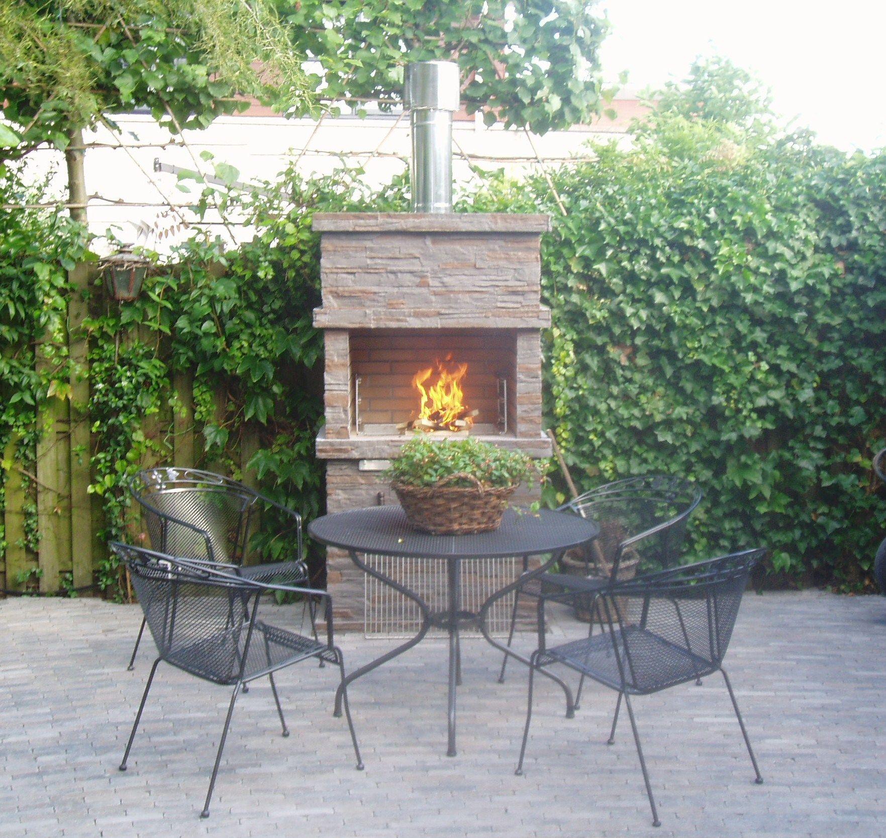 Uitzonderlijk betonnen tuinhaard, stenen terrashaard   Berry's outdoor place EA33