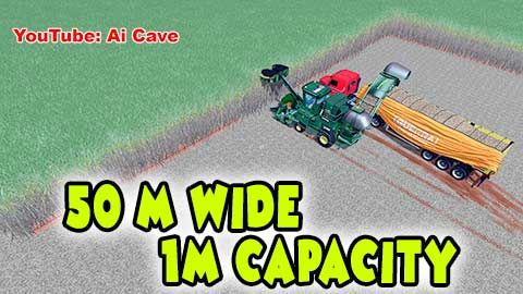 Unrealistic +50 m JOHN DEERE 3522 Sugarcane Harvester - AI
