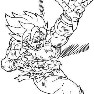 Goku Coloring Pages. Free Kid Goku Fireball Dragon Ball Coloring ...