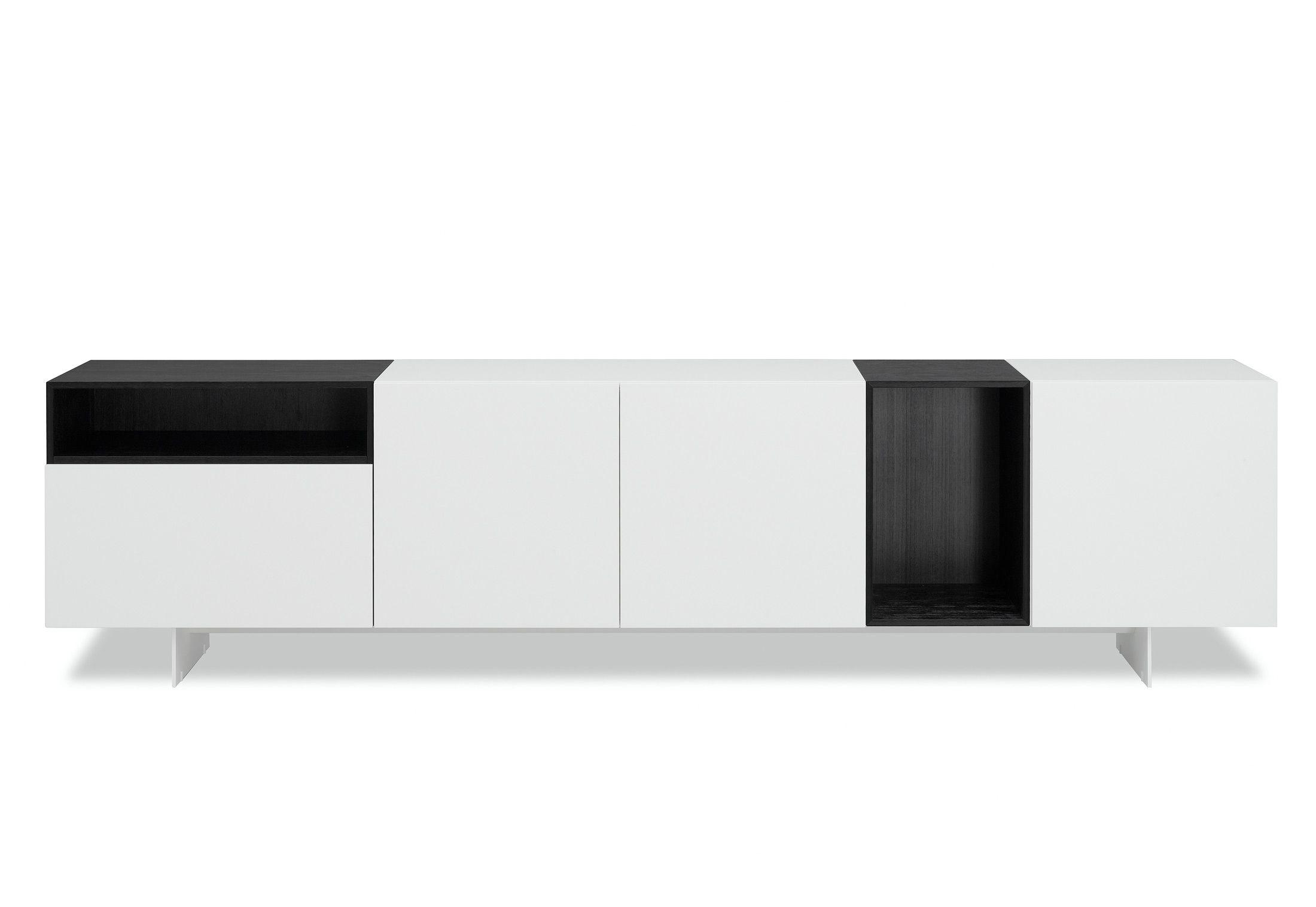 Porro  Modern Sideboard  LOVE the solid black hemlock Porro does!! American wood / handworked in Italy ;-)