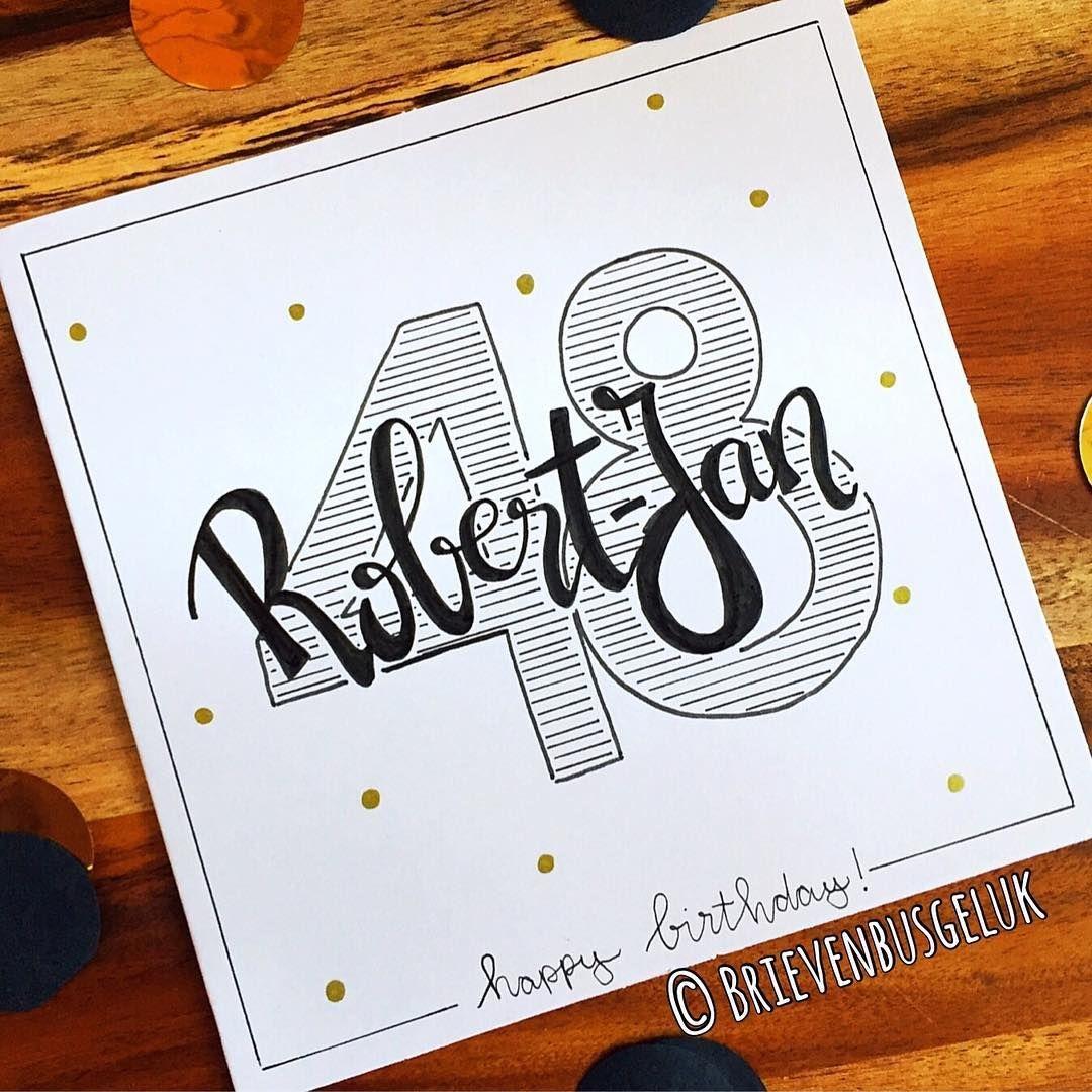 "Photo of Briefkastenglück auf Instagram: ""• Robert-Jan 48 • © ️ ——🎉——. . #incommission #custommade #letterbox Glück #happybirthday #happy #birthday #birthdayboy #hoera # Glückwunsch… """