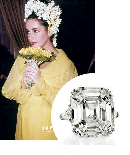 elizabeth taylors engagement ring - Elizabeth Taylor Wedding Ring