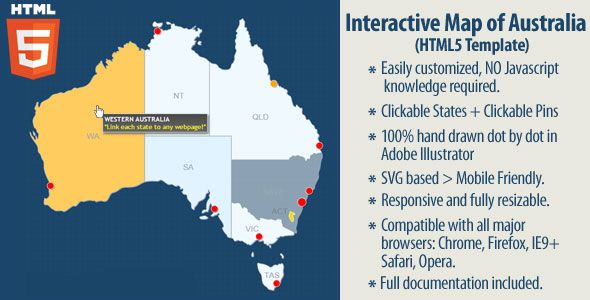 Interactive Map Of Australia.Interactive Map Of Australia Html5 Code Scripts And Plugins