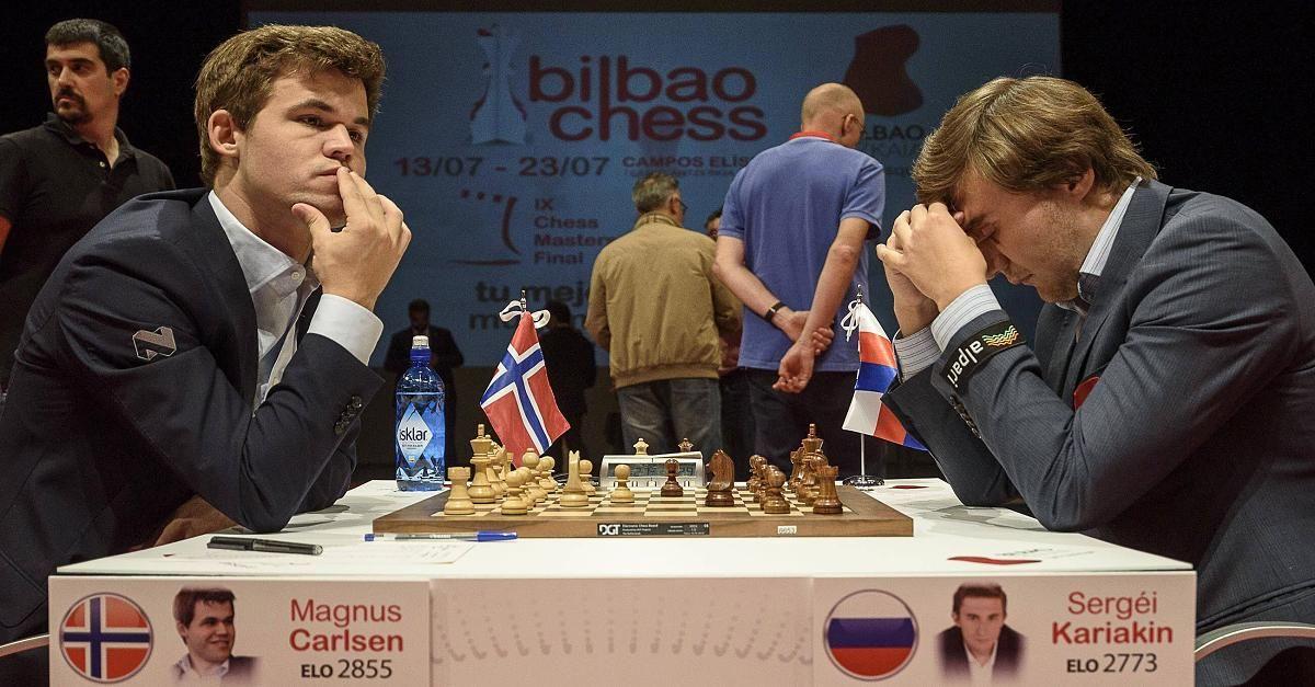 Jetzt lesen:  Schach-WM 2016 im News-Ticker  - Carlsen eröffnet Partie eins gegen Karjakin mit Weiß - http://tinyurl.com/gmuxdgq #aktuell