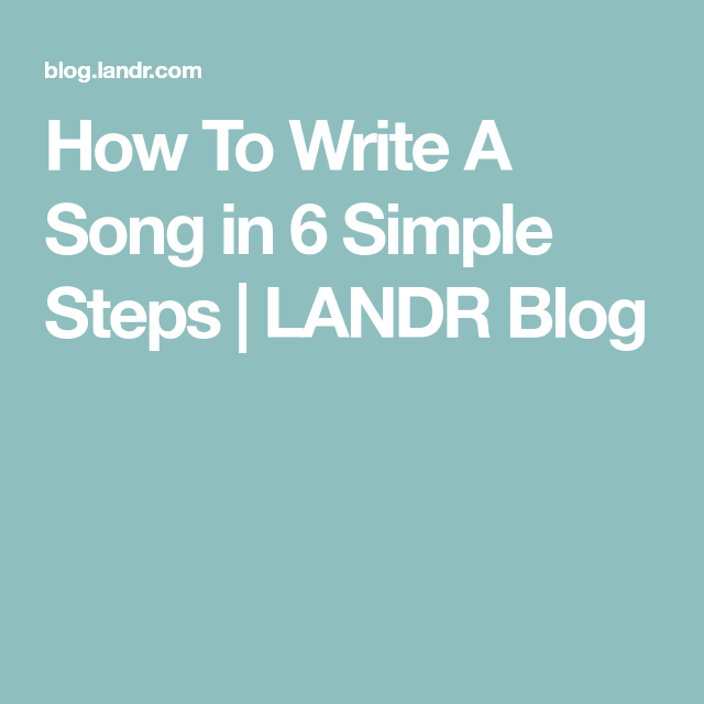 how to write a music blog
