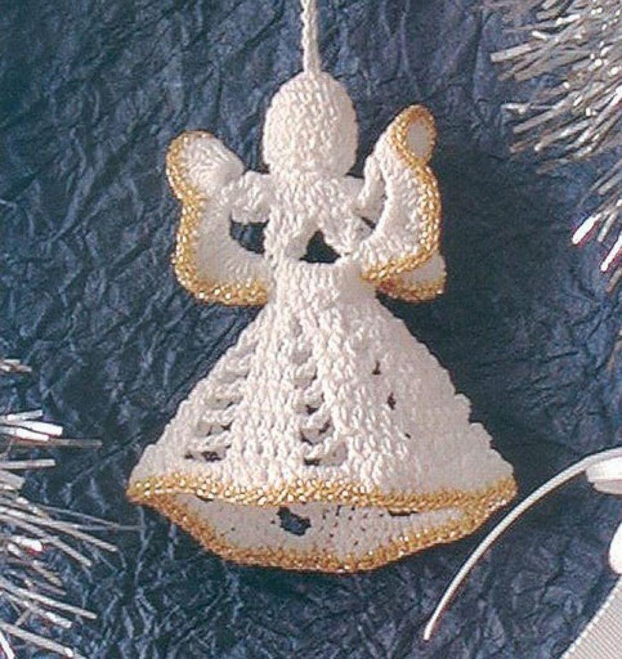 Angel a ganchillo o crochet | Hilo dorado, Ángeles y Ganchillo