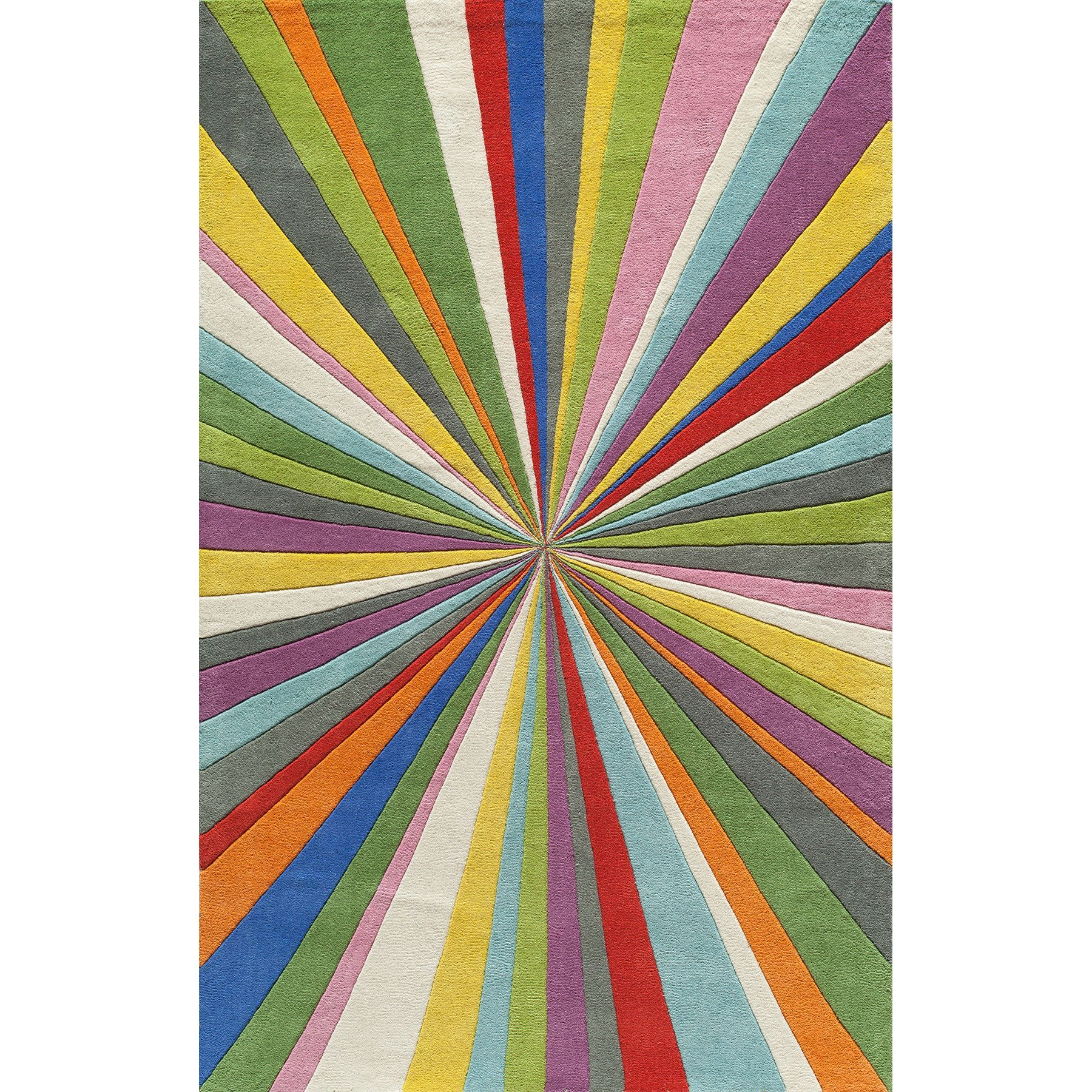 "Momeni Cosmopolitan Color Burst Hand-tufted Wool Rug (2'3"" x 8') (Multi Rug), Size 2'3"" x 8'"