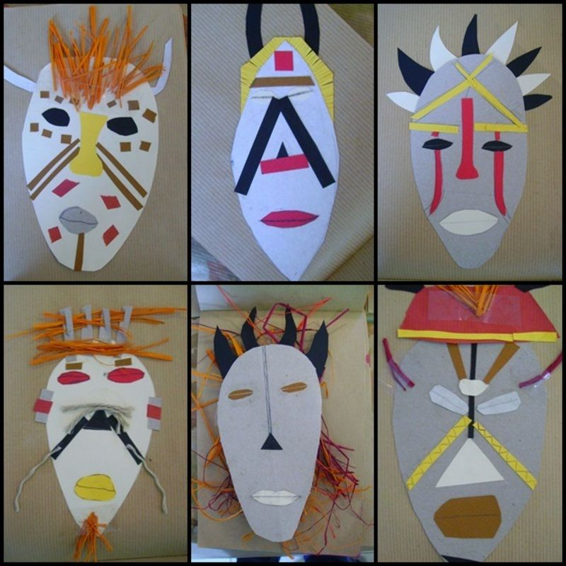 masque africain a l'ecole
