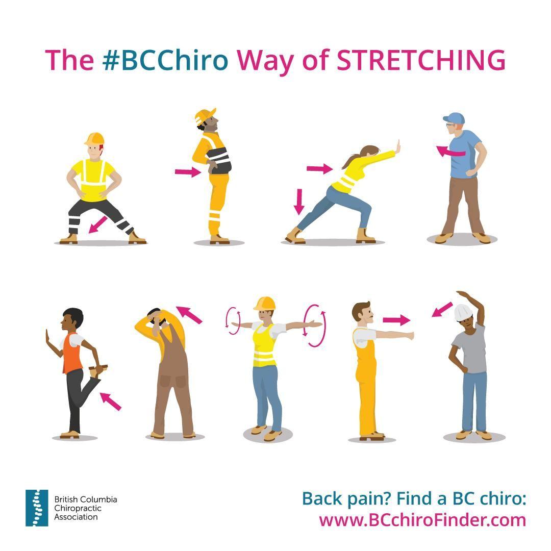 Infographic ⚠️ The BCChiro Way of Stretching 🙆♀️🙆♂️