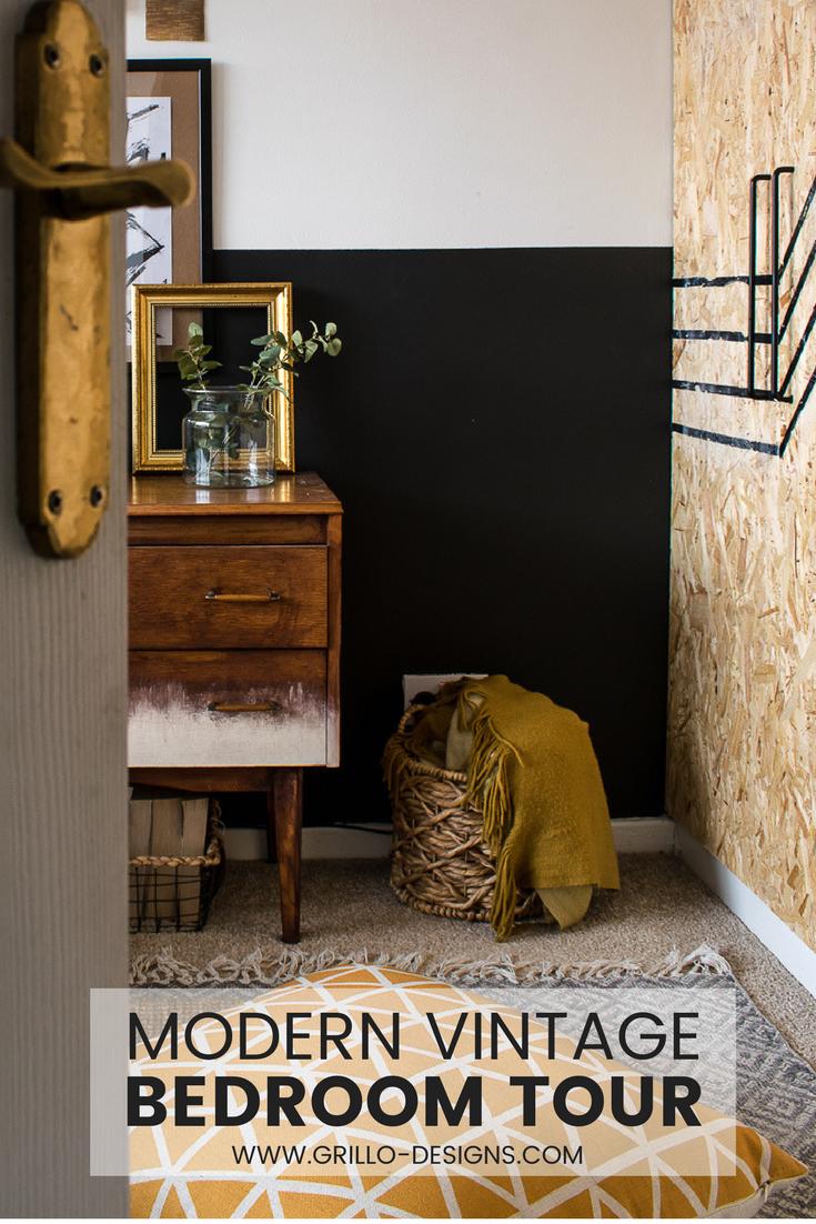 Modern Vintage Small Bedroom Makeover