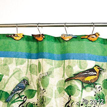 Bird Shower Curtain Hooks Terry S Village Bird Shower Curtain