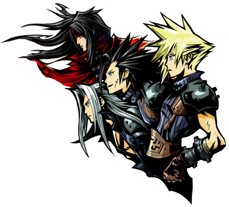 ff7 logo remake with vincent Final fantasy artwork
