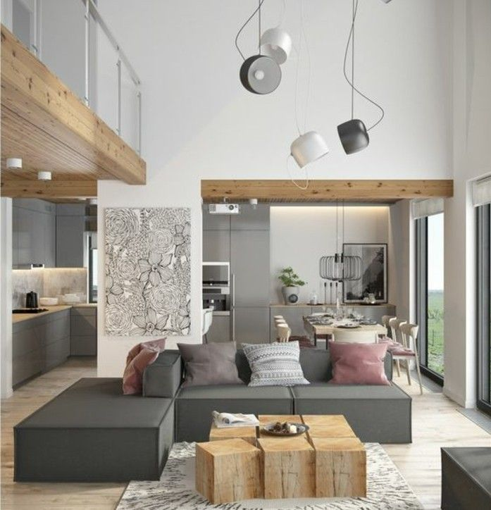 Deco Originale Salon déco salon gris - 88 super idées pleines de charme | interieur