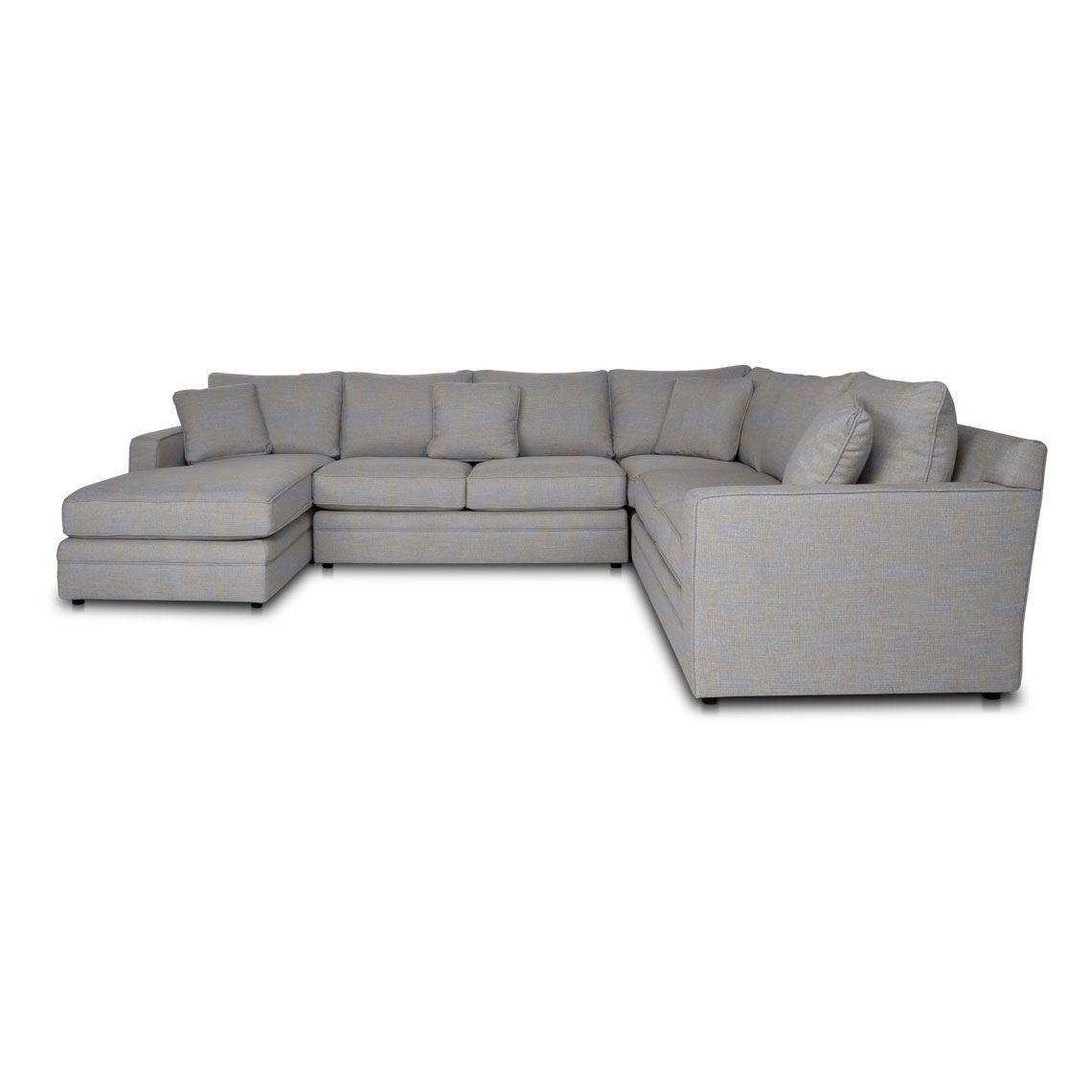 Andersen 6 Seat Fabric Corner Modular Sofa With Right Chaise Modular Sofa Fabric Sofa White Dining Room Chairs