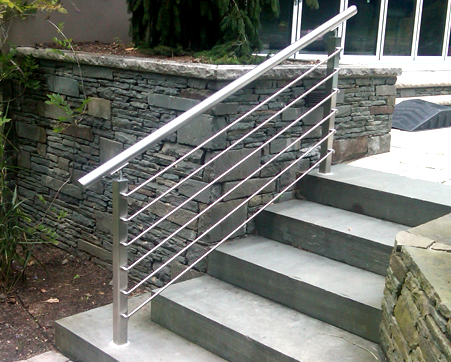 Stainless Steel Modular Crossbar Infill System At Stair Location