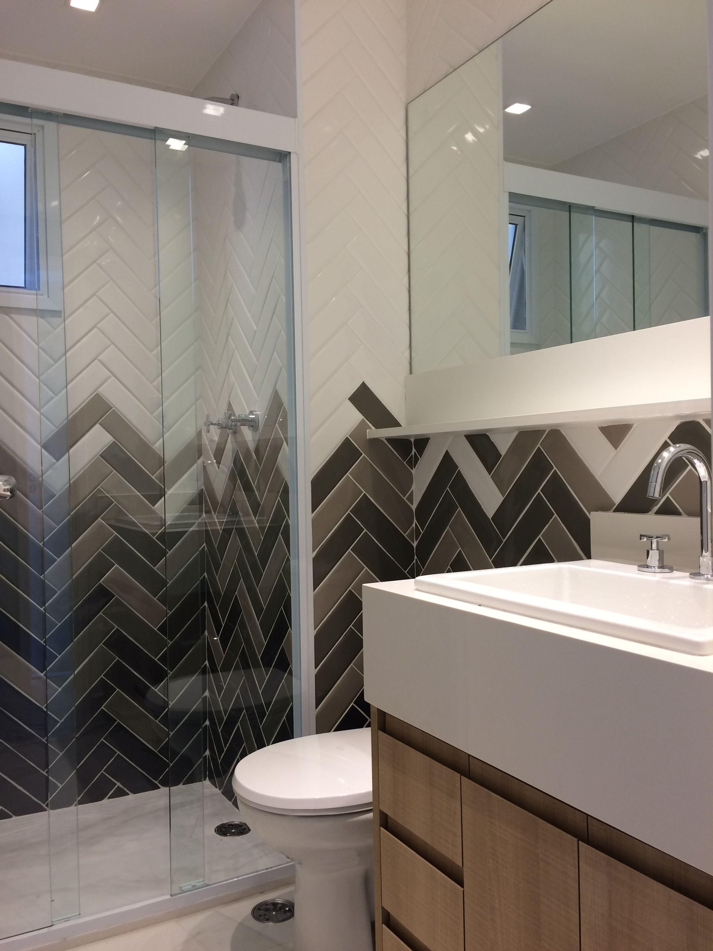 Banheiro Apto Saude Revestimento Liverpool Portobello Projeto E Execucao Compondo Arquitetura Casa Ou Apartamento Banheiro Arquitetura