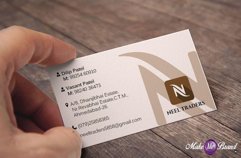Business Card Designed For Neel Traders Businesscard Identity Trader Branding Name Card Design Business Card Design Modern Business Cards