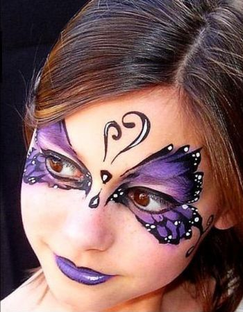 Best 25 butterfly makeup ideas on pinterest butterfly for Fairy painting easy