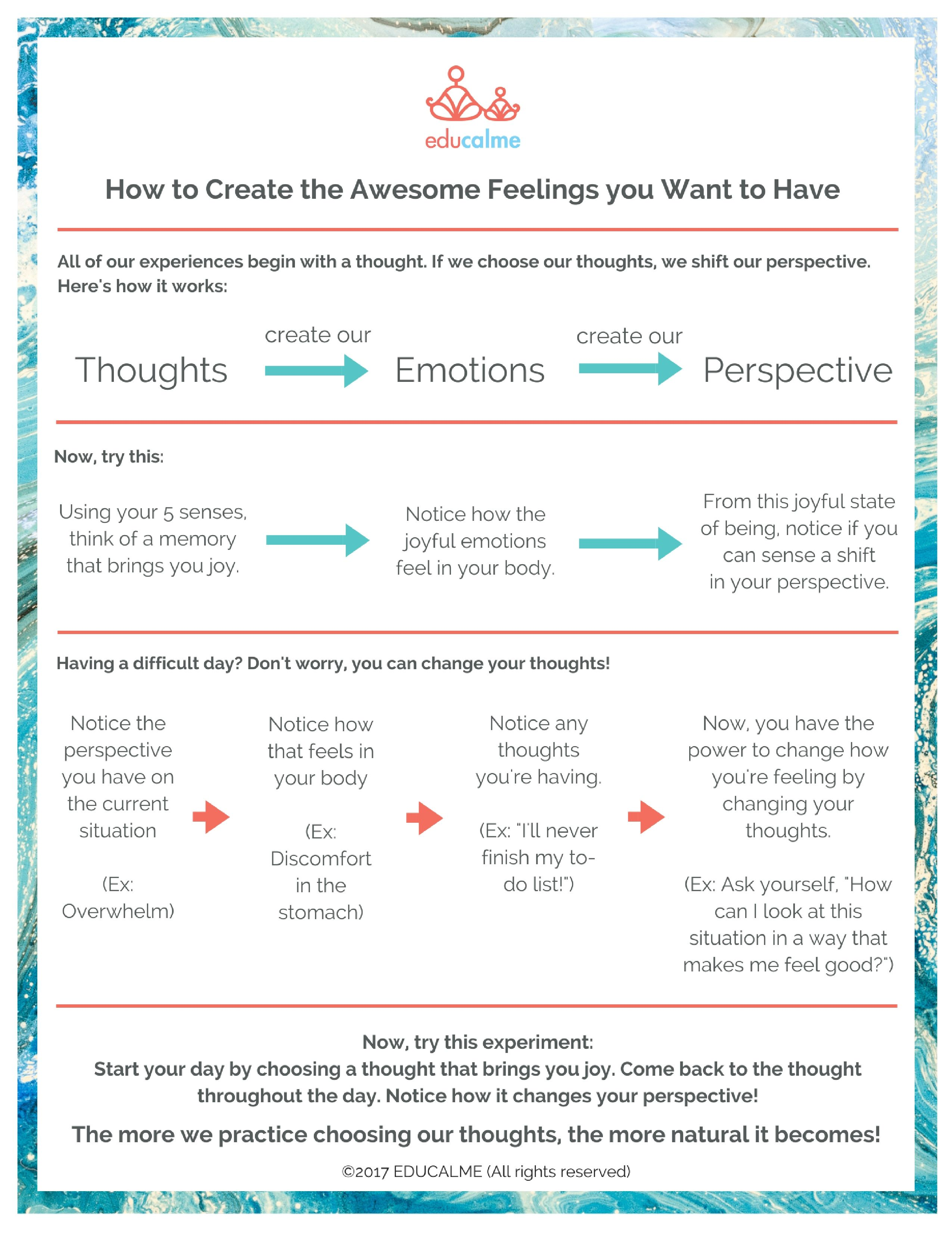 How To Create The Awesome Feelings You Want To Have In