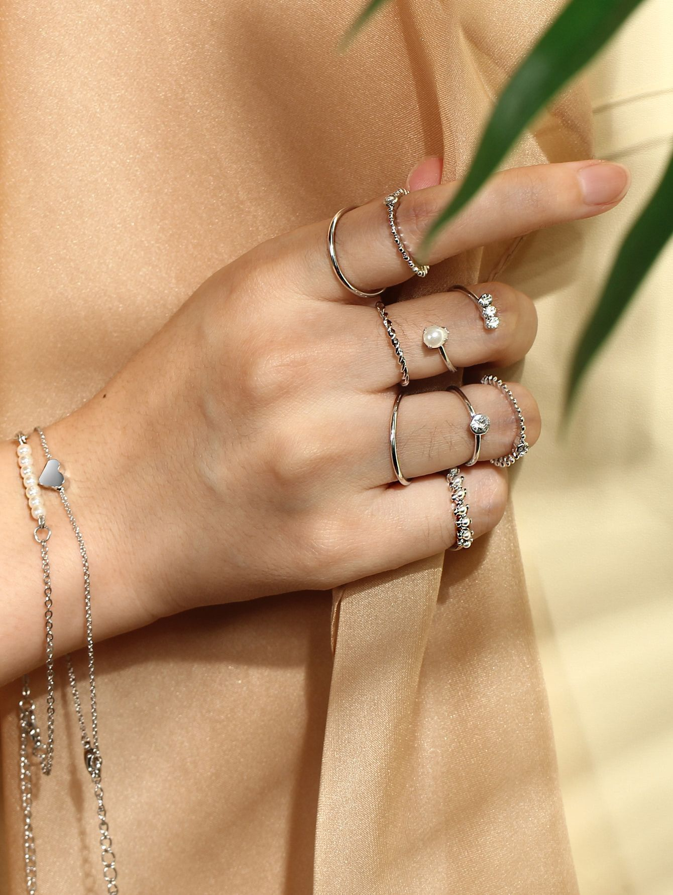 1b269edc2a Shop Multi Shaped Rings & Link Bracelets Set online. SheIn offers Multi  Shaped Rings & Link Bracelets Set & more to fit your fashionable needs.