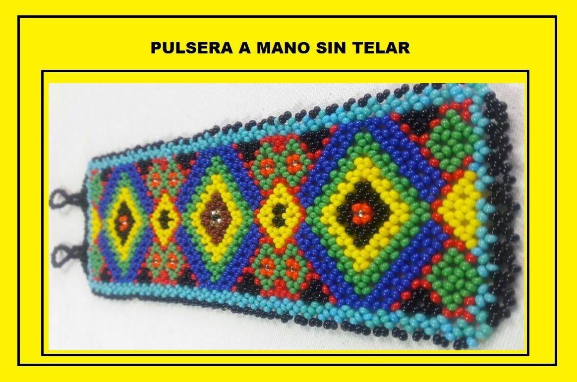 41e286afb26c PULSERA SIN TELAR A UNA AGUJA | mostacillas | Pulseras, Pulseras y ...