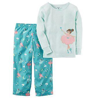 c0c421395e74 Carter s® Girls  2T-4T 2-Piece Cotton   Microfleece Print Pajamas ...