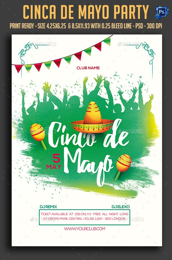 cinco de mayo party flyer template psd download here http