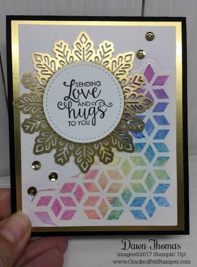 Watercolor Meets Foil Snowflakes Paper Pumpkin Tic Tac Toe And