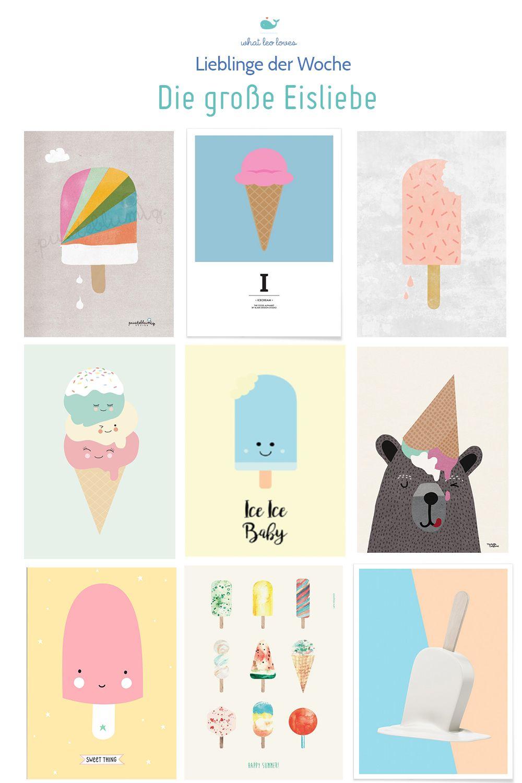Poster Kinderzimmer Die große Eisliebe Poster