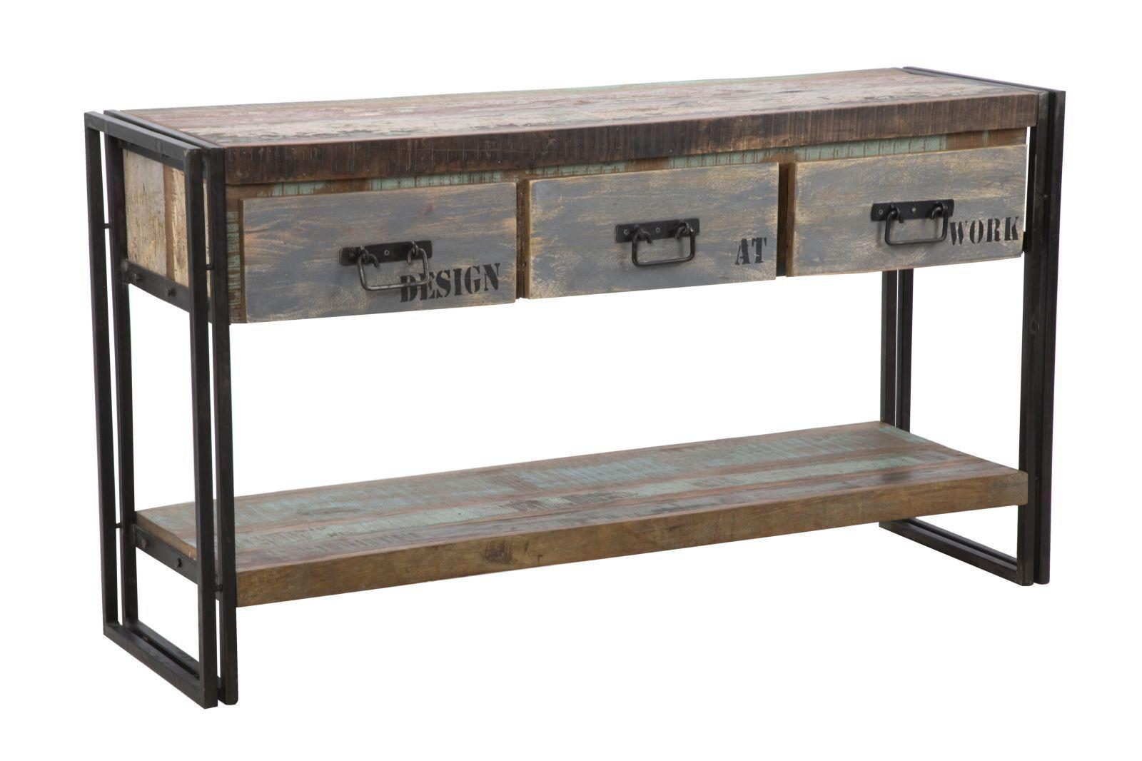 Arredamento Legno Riciclato : Mauroferrettisrl 1416040000 console caribbean cm 140x40x76 legno