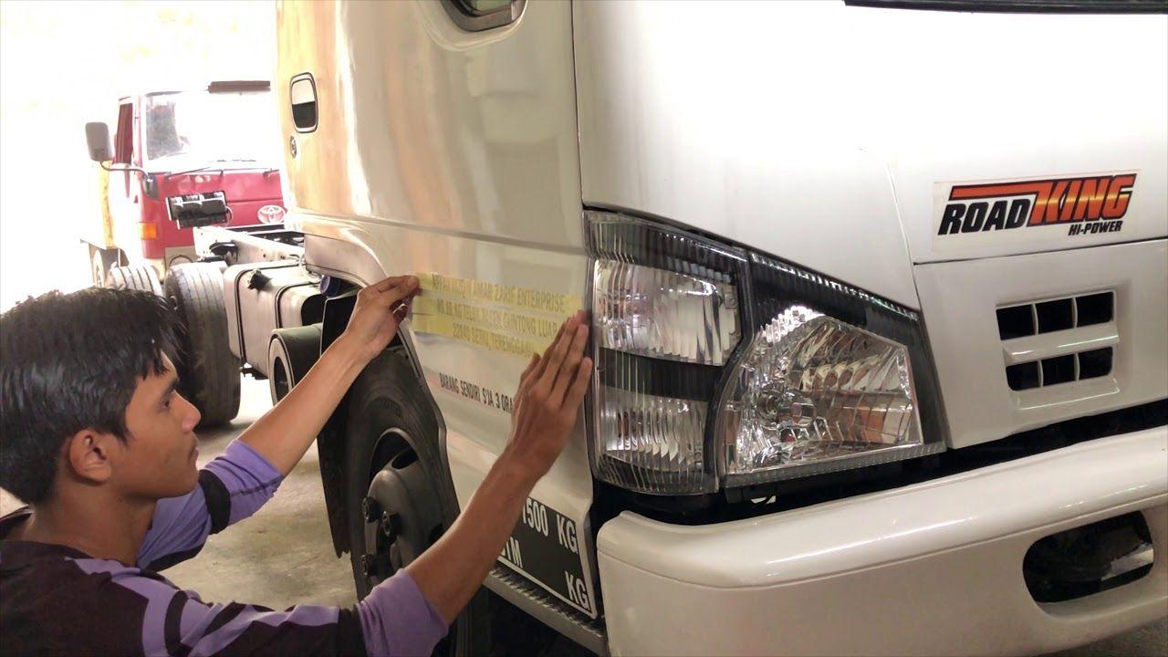 ISUZU TRUCKS MALAYSIA SIGN WRITING STICKER INSTALLATION