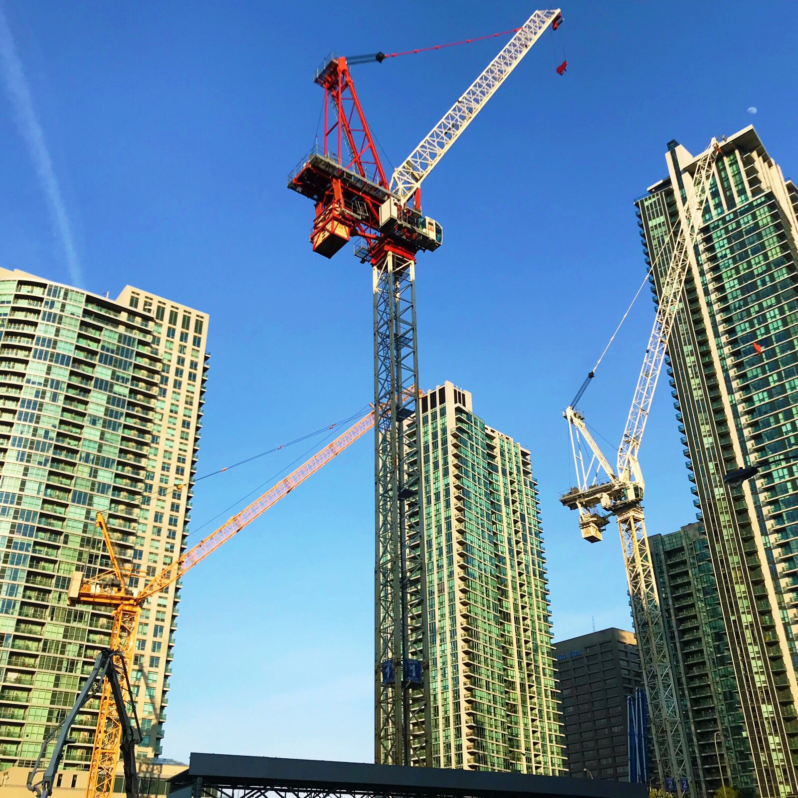 hight resolution of do you have more than one crane on your construction site if you do