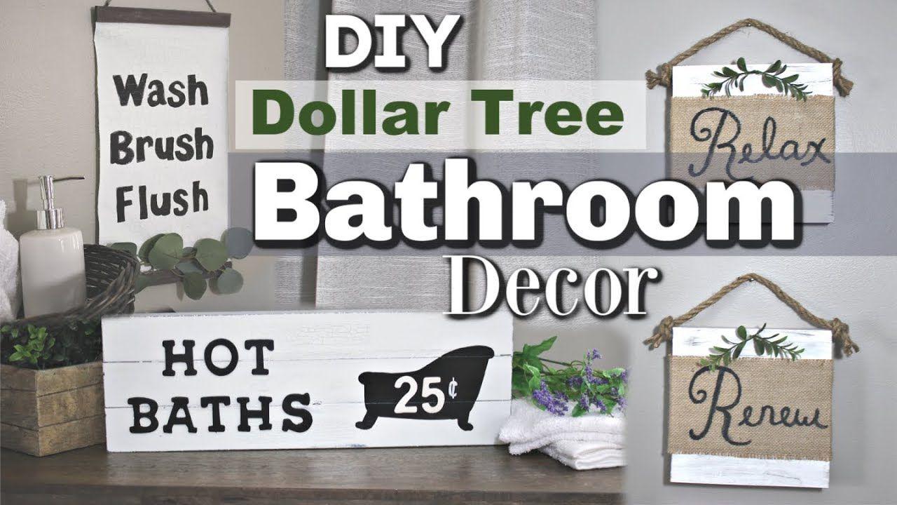 Dollar Tree Farmhouse Bathroom Decor Diy Bathroom Dollar Tree Decor Krafts By Katelyn Youtu Dollar Tree Decor Diy Bathroom Decor Farmhouse Bathroom Decor