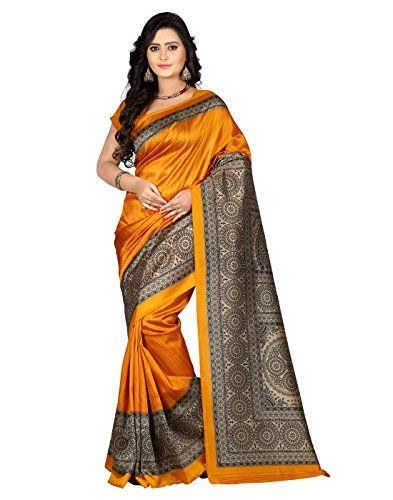 5bbed8ab7af Jaanvi fashion Women s Mysore Art Silk Saree (Printed Red) Printed Silk  Fabric