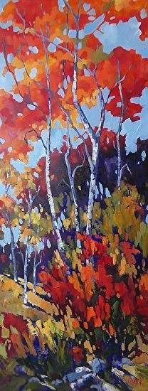 Stand Together 50 x 20 by jill charuk Oil ~ 48 x 24