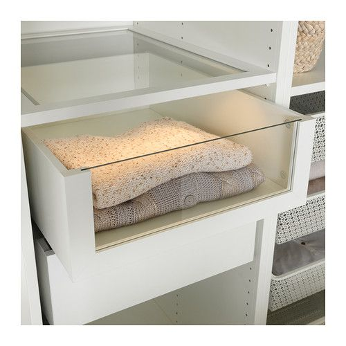 Ikea Komplement White Drawer With Glass Front Bedroom
