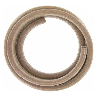 Regaliz leather cord, 10x7mm, mink, pack of 1 meter