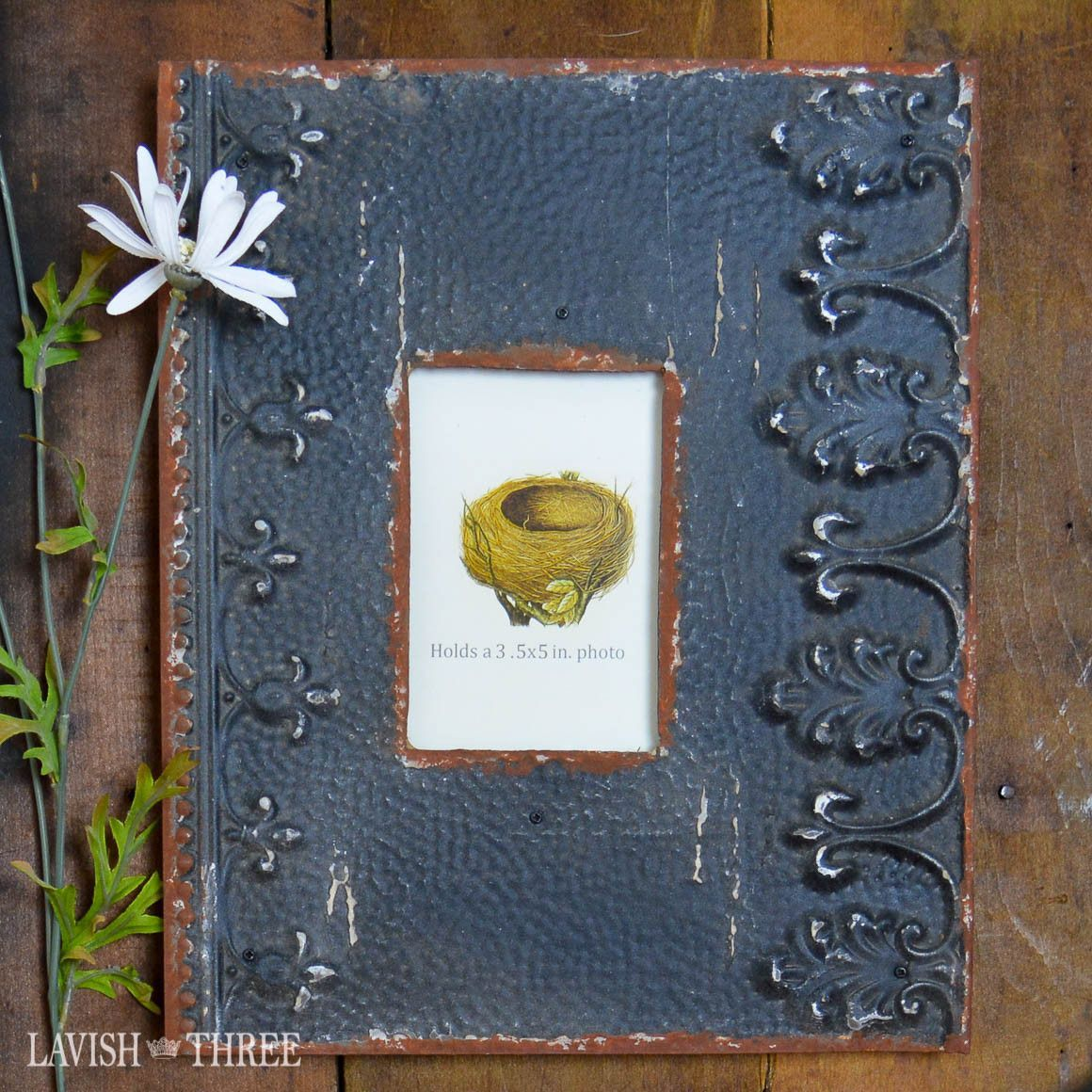 """Rustic Elegance"" metal frame charcoal black Diy"