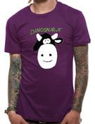 Officially licensed import Dinosaur Jr t-shirt design printed on a Purple 100% cotton short sleeved T-shirt.