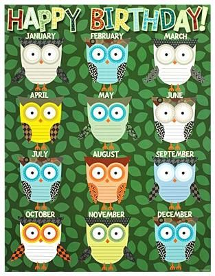 Birthday Owl Chart