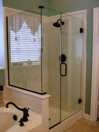 Frameless Shower Garden Tub Layout Shower Doors Glass Shower